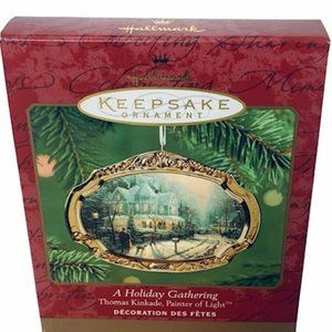 Thomas Kinkade Ornament Holiday Gathering Hallmark
